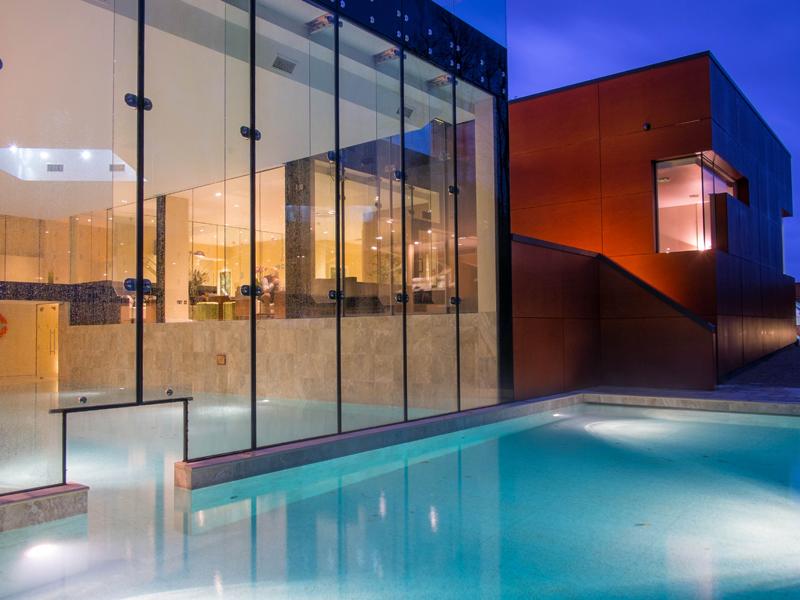 Ockenden Manor Hotel and Spa Outdoor Pool at Night